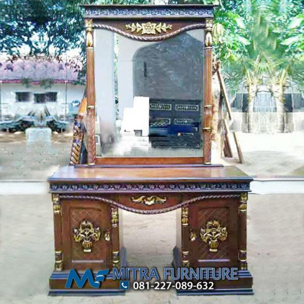 Pusat Jual Meja Rias Tambang Ukiran Kayu Jati