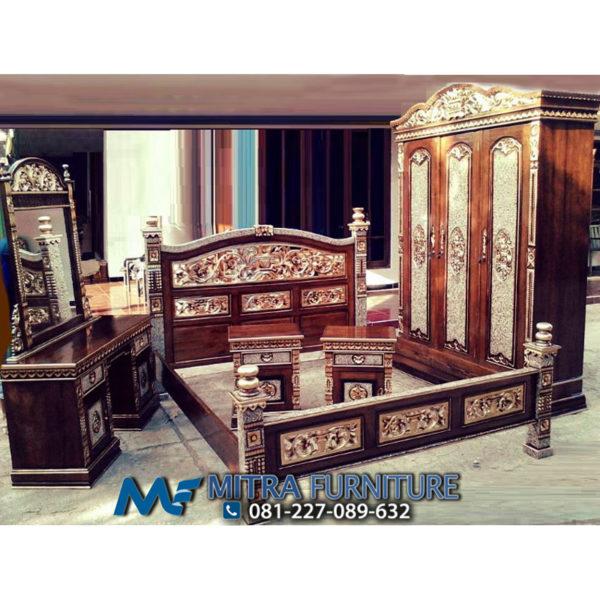 Pusat Jual Ranjang Kamar Tidur Rahwana Set Ukiran Antik Jati