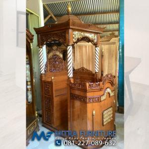 Toko Jual Mimbar Masjid Jati Jepara Kayu Jati