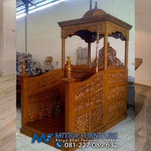 Pusat Jual Mimbar Masjid Jepara Ukir Kayu Jati
