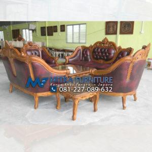 Pusat Jual Sofa Tamu Jati Set Ganesha Mawar
